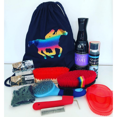 Go Charlie Rainbow Grooming Kit Bag