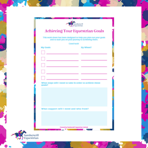 Achieving Your Equestrian Goals Printable