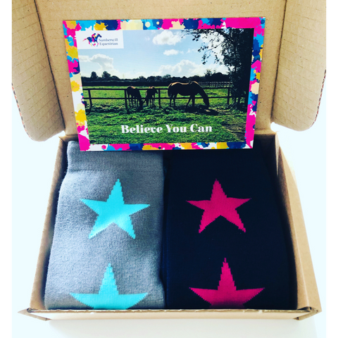 Samberwill Equestrian Horse Riding Socks Gift Box