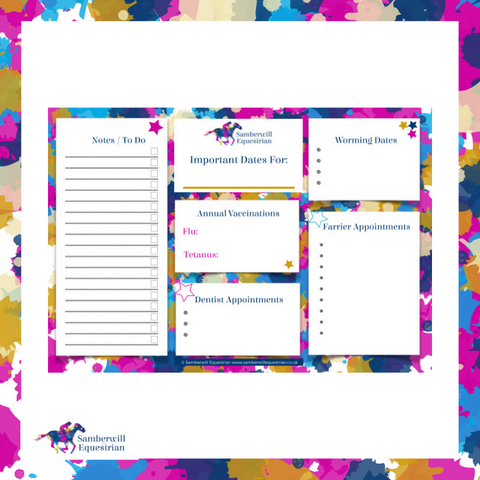 Free Horse Care Planner Printable