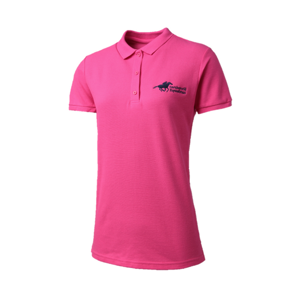 Samberwill Equestrian Heliconia Pink Polo Shirt
