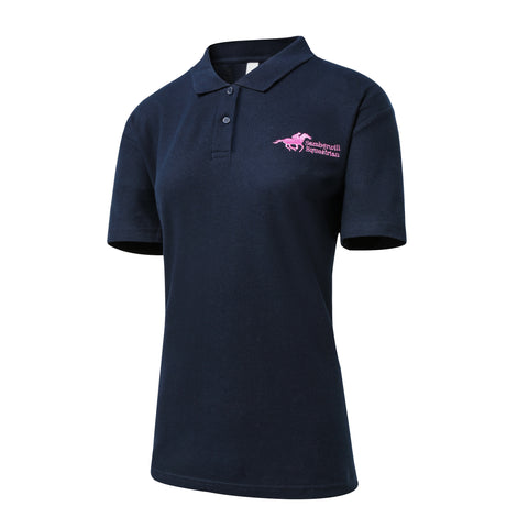 Samberwill Equestrian Ladies Polo Shirt in Navy