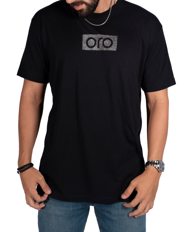 Oro Short Sleeve T-Shirt - Dark Silver/Black