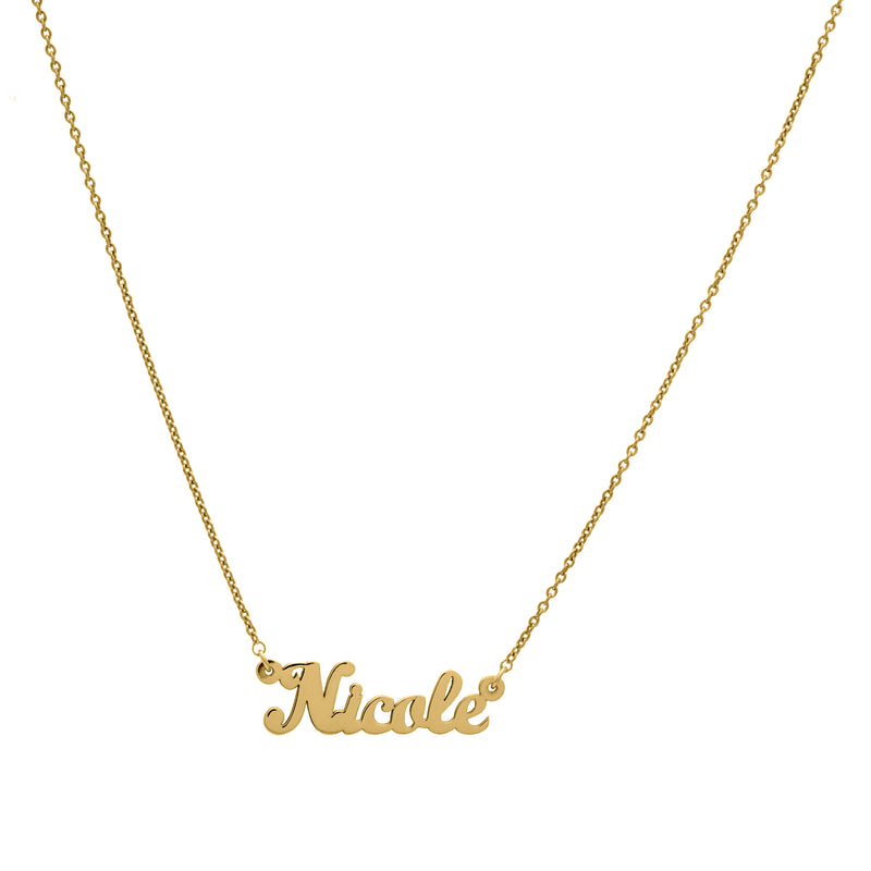 Classic - Yellow Gold Nameplate Necklace