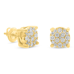 Round Earrings 14K Yellow Gold 0.75ct