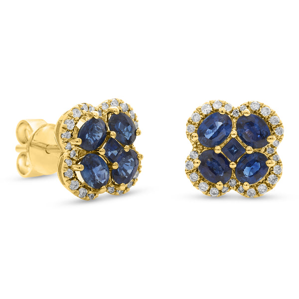 Bubbly Blue Earrings 18K Yellow Gold 0.22ct