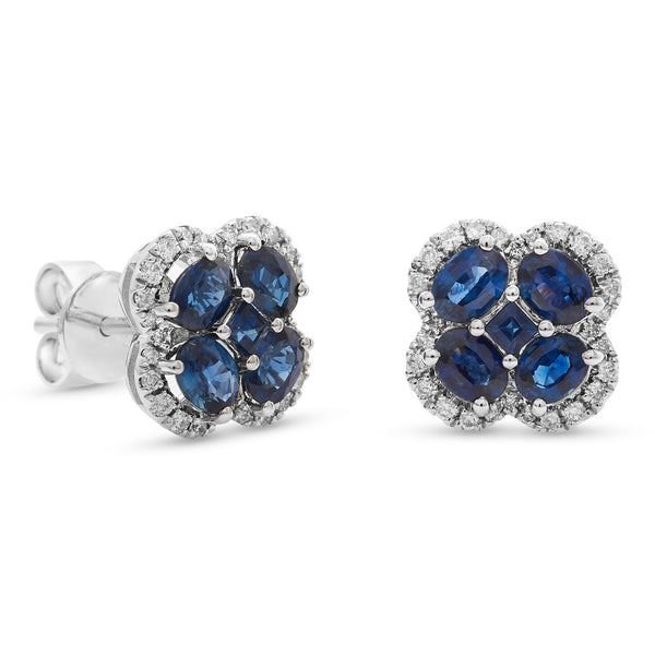 Bubbly Blue Earrings 18K White Gold 0.22ct