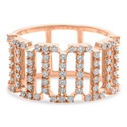 Crown Ring 18K Rose Gold 0.75ct