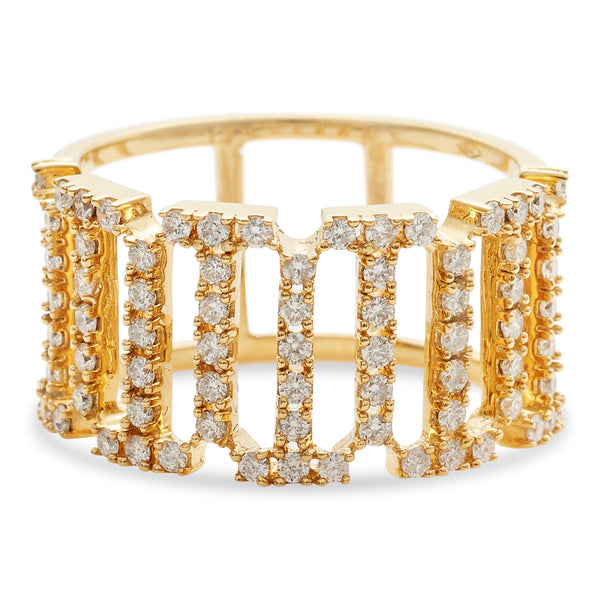 Crown Ring 18K Yellow Gold 0.75ct