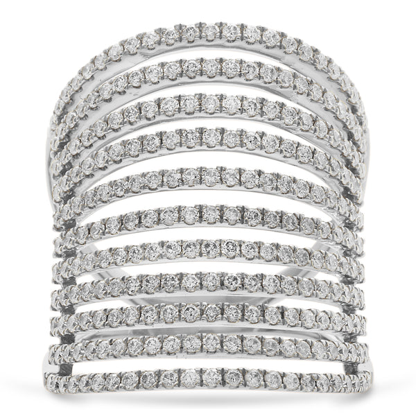 Cage Ring 18K White Gold 1.48ct