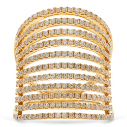Cage Ring 18K Yellow Gold 1.48ct