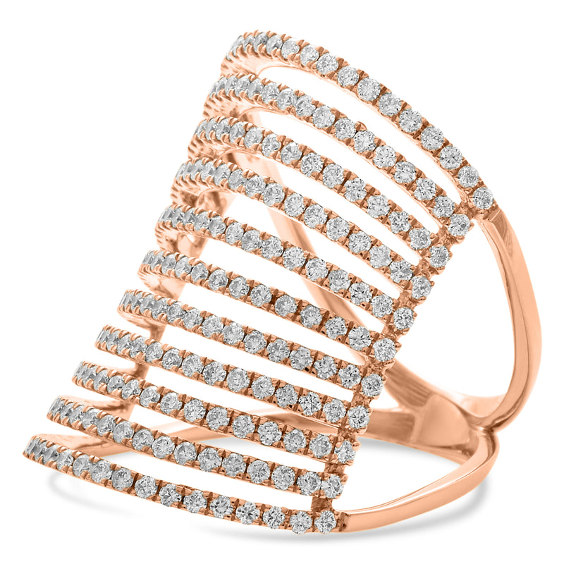 Cage Ring 18K Rose Gold 1.48ct