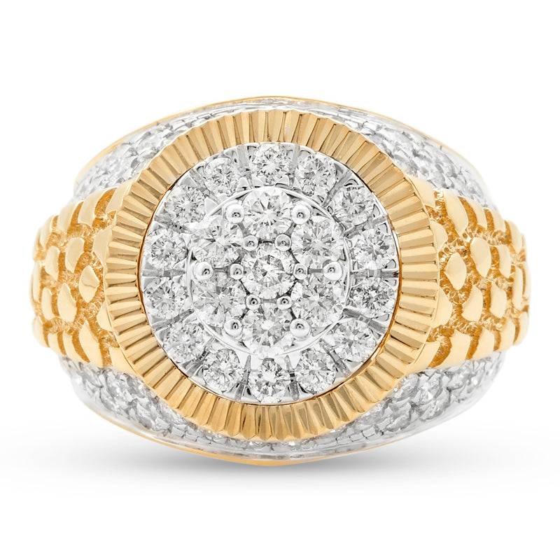 Nugget Ring 14K Yellow Gold 2.00ct