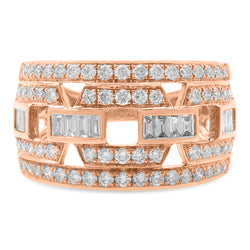 Round Ring 18K Rose Gold 1.00ct