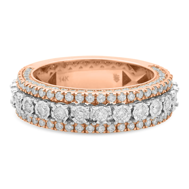 Layered Ring 14K Rose Gold 2.00ct
