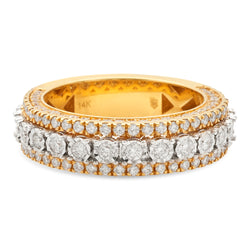 Layered Ring 14K Yellow Gold 2.00ct
