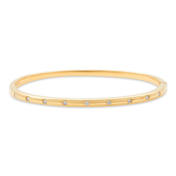 Bangle 14K Yellow Gold 0.24ct