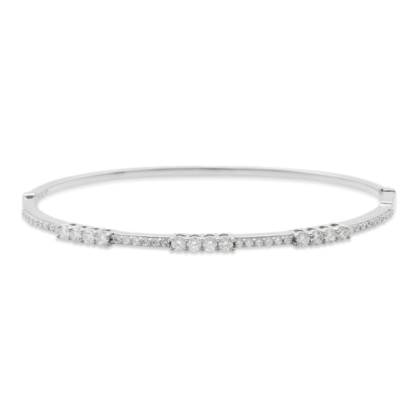 Boujee Bangle 18K White Gold 1.00ct