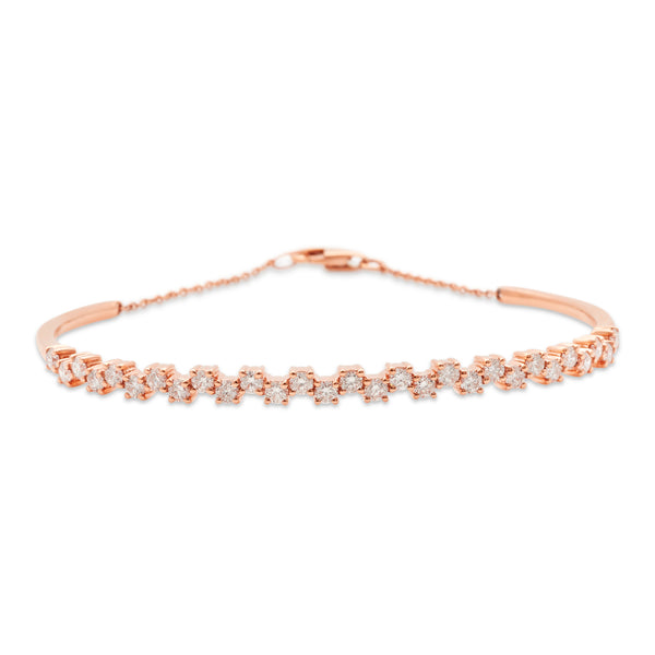 Flower Link Bangle 18K Rose Gold 1.45ct