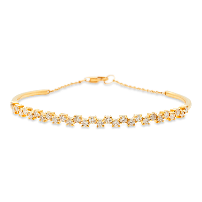 Flower Link Bangle 18K Yellow Gold 1.45ct