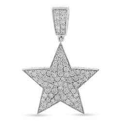 Star Pendant White Gold 14K 3.20ct