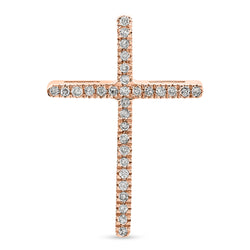 Mini Thin Cross 14K Rose Gold 0.06ct