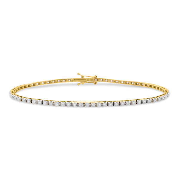 Thin Princess Bracelet 14K Yellow Gold 1.00ct