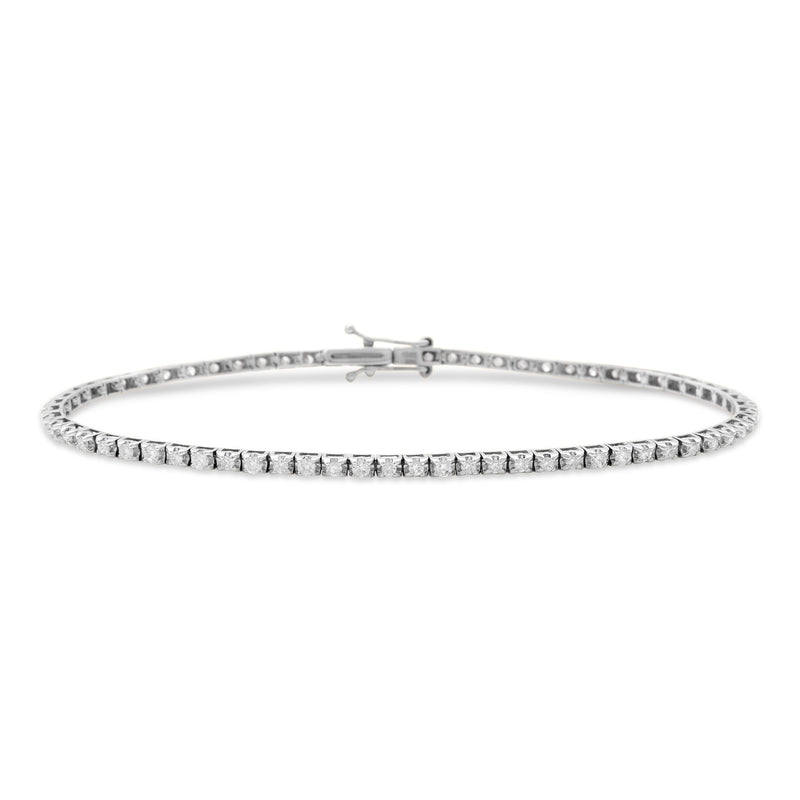 Thin Princess Bracelet 14K White Gold 1.00ct