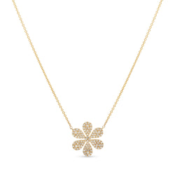 Mini Flower Necklace 14K Yellow Gold 0.27ct