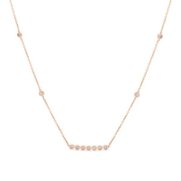 Little Details Necklace 14K Rose Gold 0.25ct