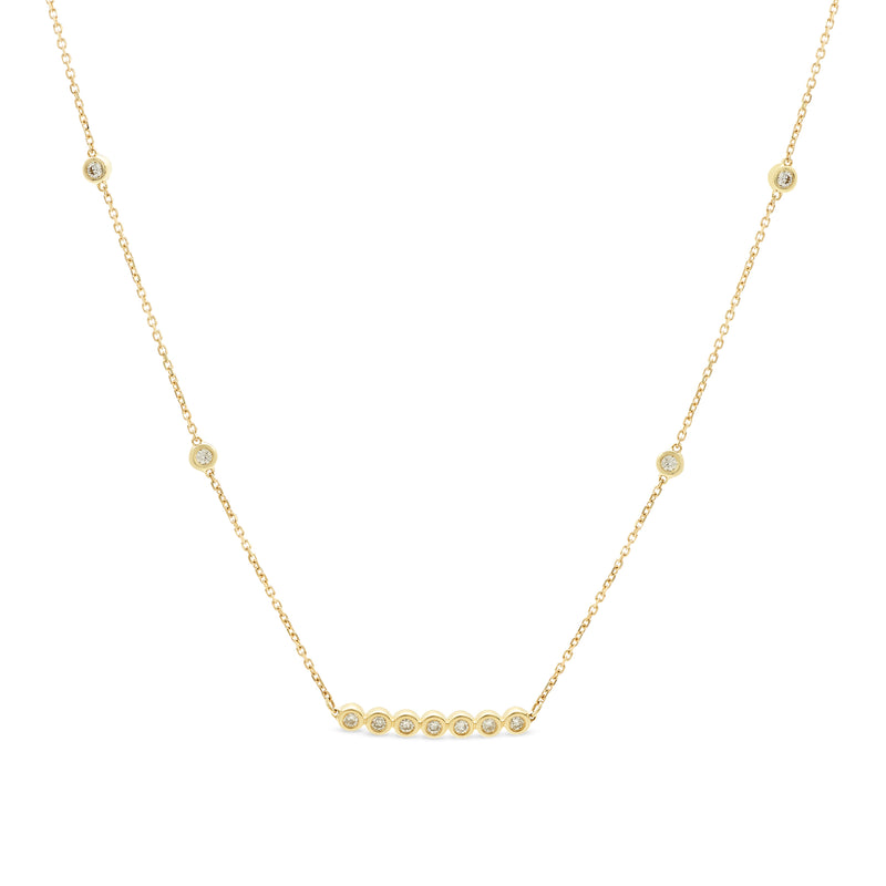 Little Details Necklace 14K Yellow Gold 0.25ct