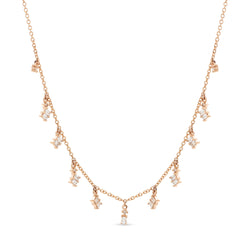 Baguette Necklace 18K Rose Gold 9.44ct