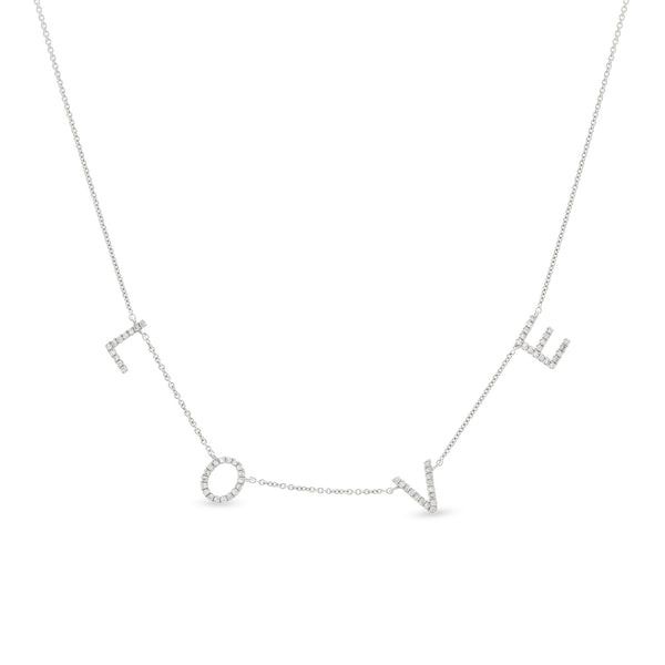 Love Necklace 14K White Gold 0.18ct