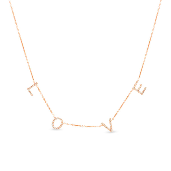 Love Necklace 14K Rose Gold 0.18ct
