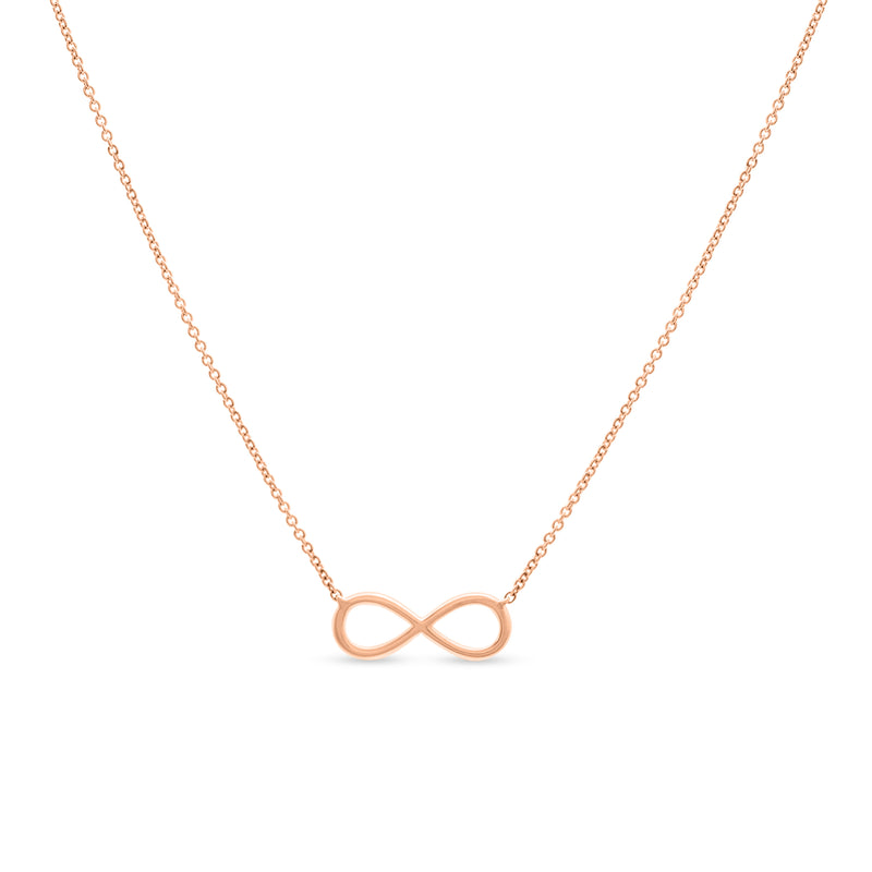 Mini Infinity Necklace 114K Rose Gold 0.12ct