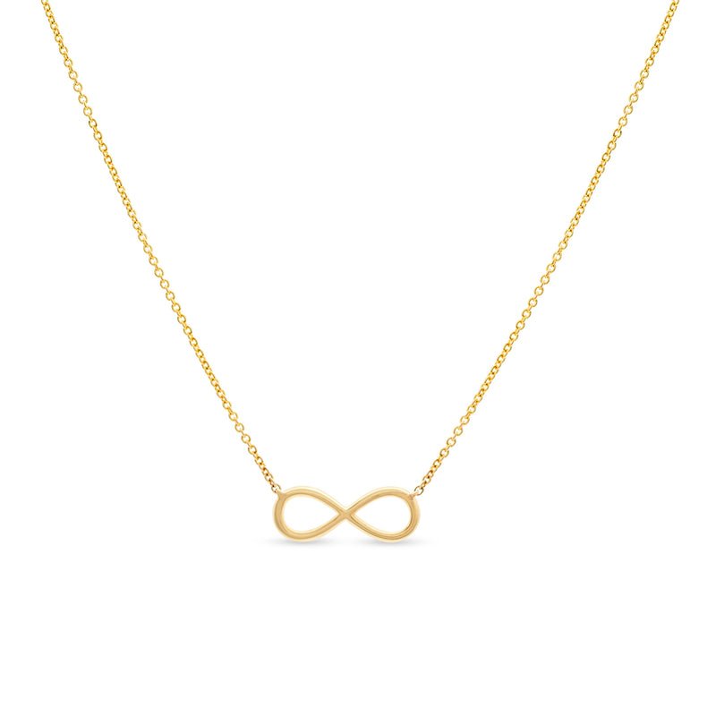 Mini Infinity Necklace 114K Yellow Gold 0.12ct