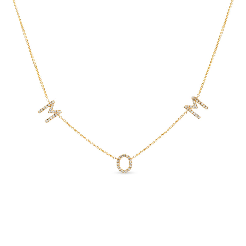 Mom Necklace 14K Yellow Gold 0.23ct