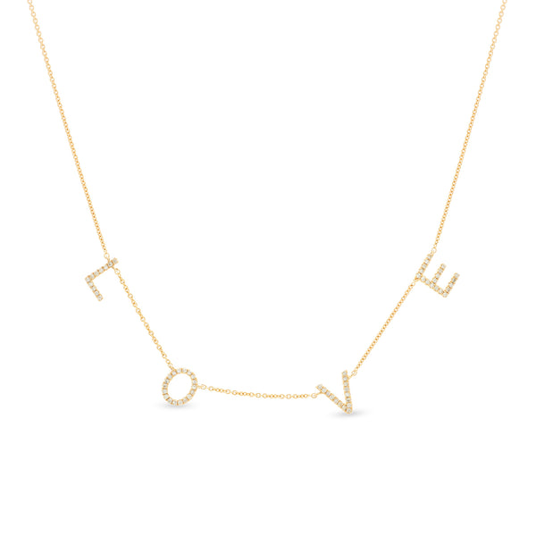 Love Necklace 14K Yellow Gold 0.18ct