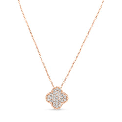 Mini Bubbly Necklace 14K Rose Gold 0.41ct