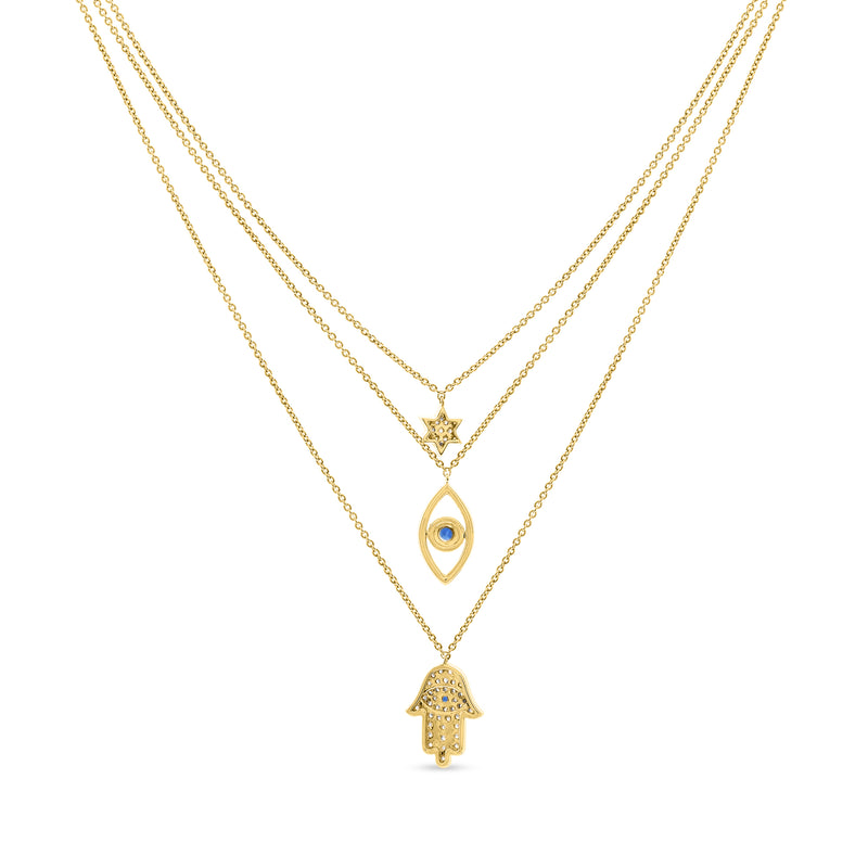 Magical Layers Necklace 14K Yellow Gold 0.53ct
