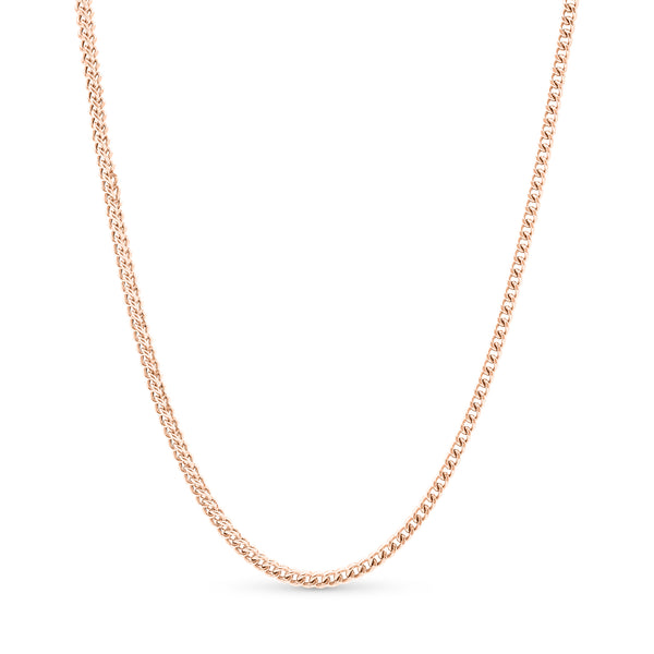 Franco Link Chain 14K Rose Gold 3.5mm