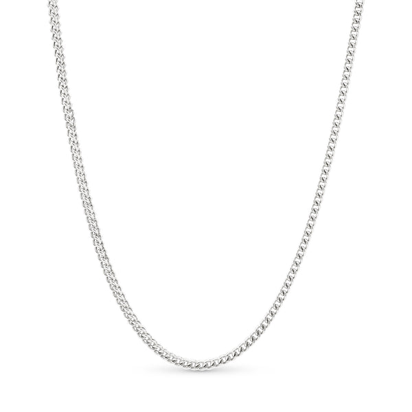 Franco Link Chain 14K White Gold 3.5mm