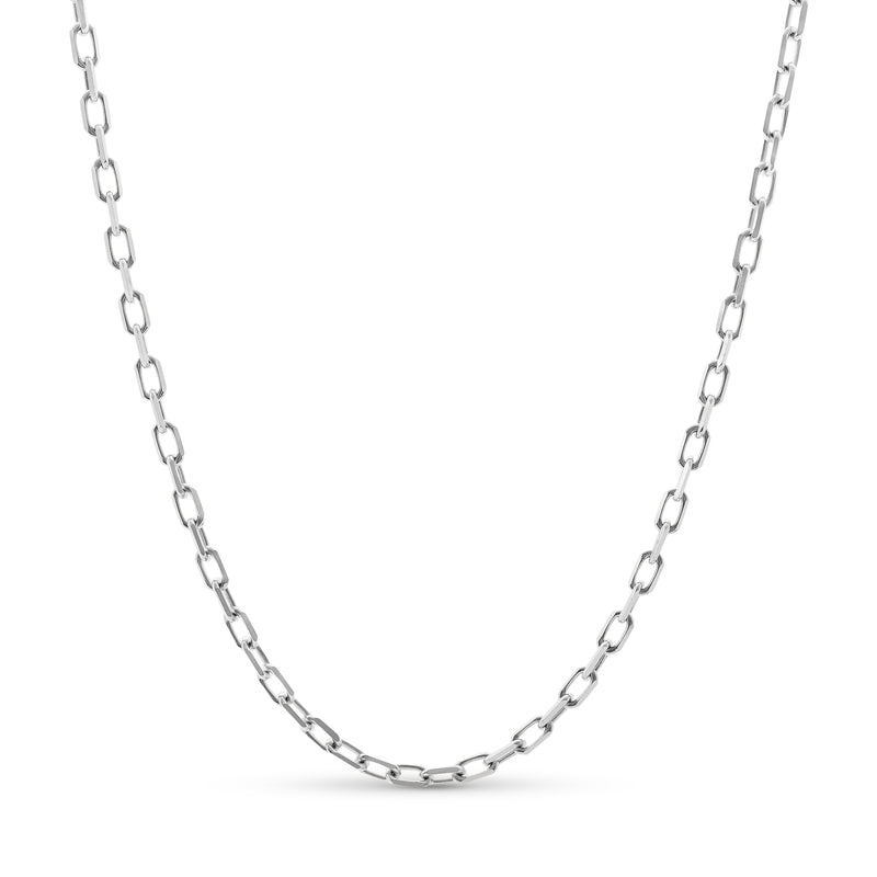 Hermes Link Chain 14K White Gold 4.0mm