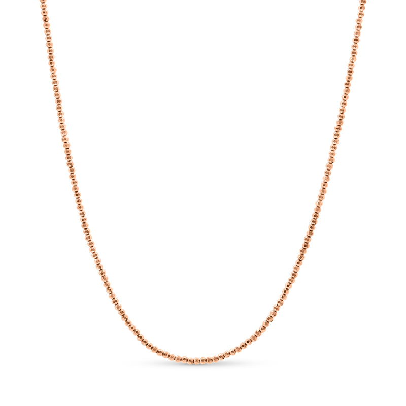 Diamond Cut Ball Chain 14K Rose Gold 2.5mm