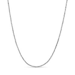Diamond Cut Ball Chain 14K White Gold 2.5mm