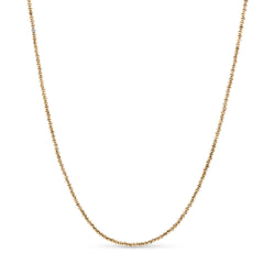 Diamond Cut Ball Chain 14K Yellow Gold 2.5mm