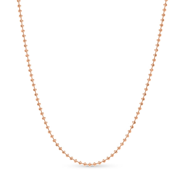 Moon Cut Ball Chain14K Rose Gold 3.0mm