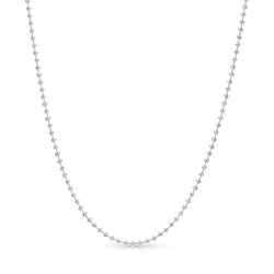 Moon Cut Ball Chain14K White Gold 3.0mm