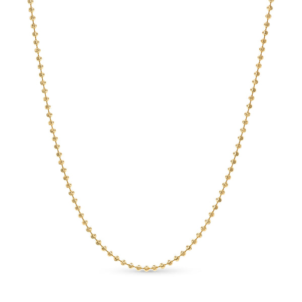 Moon Cut Ball Chain14K Yellow Gold 3.0mm