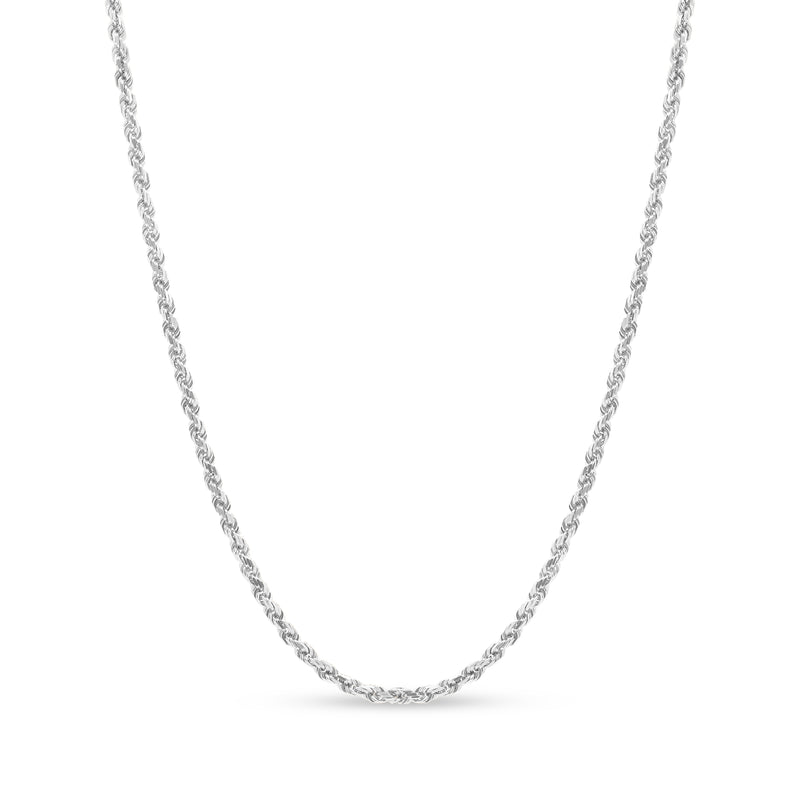 Rope Chain 14K White Gold 3.5mm